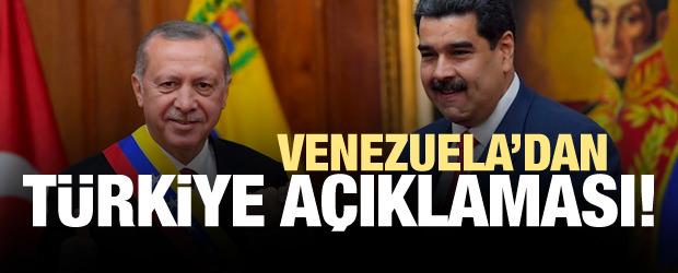 Venezuela'dan Türkiye Açıklaması!
