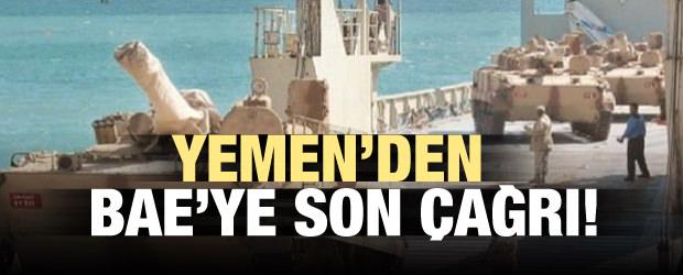Yemen resti çekti! BAE'e son çağrı