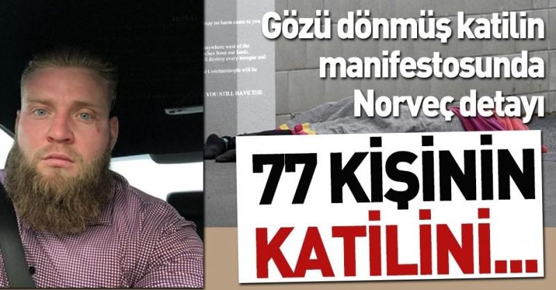 Yeni Zelanda saldırganı Tarrant, Anders Breivik'ten ilham almış