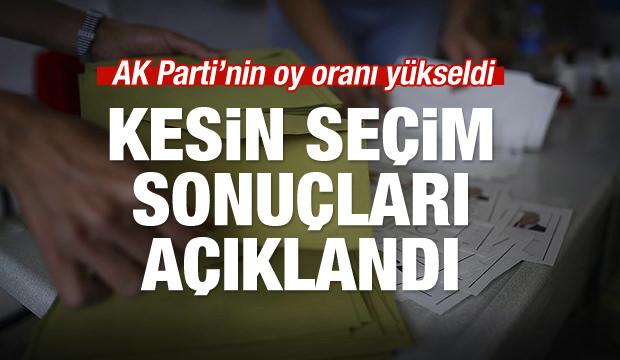 YSK, 2018 kesin seçim sonuçlarını açıkladı