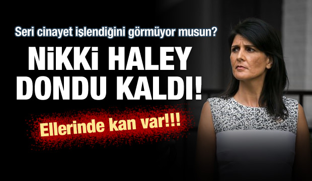 ABD'nin BM Daimi Temsilcisi Haley'e Filistin Protestosu