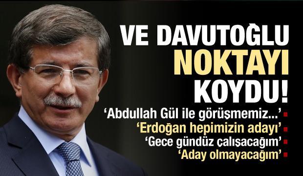 Ahmet Davutoğlu'ndan Erdoğan'a Destek!
