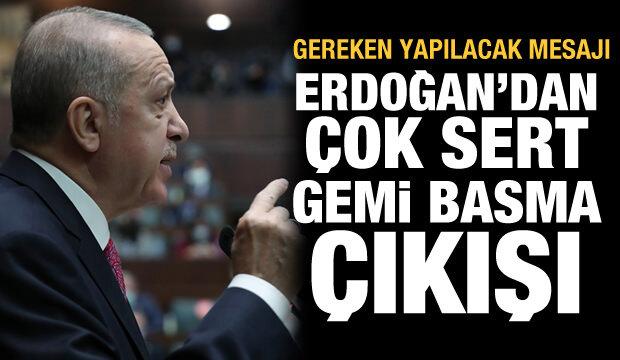 Alman askerleri Türk gemisini basmıştı! Erdoğan'dan çok sert açıklama