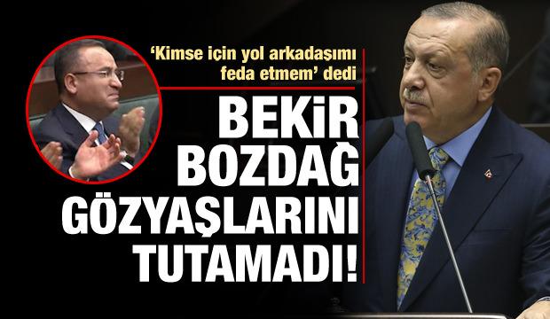 Başkan Erdoğan Bekir Bozdağ'a sahip çıktı