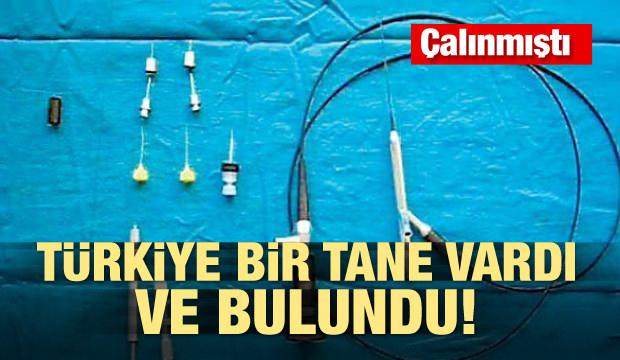 Çalınmıştı! Türkiye'de tek olan tıbbi alet bulundu