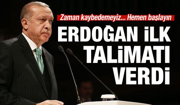 Erdoğan'dan yeni 'A Takımı'na ilk talimat
