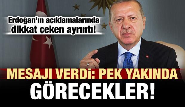 Erdoğan'ın bayram mesajında dikkat çeken ayrıntı!