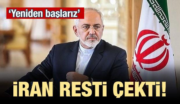 İran resti çekti! 'Yeniden başlarız'