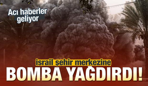 İsrail Gazze Şehir Merkezini Bombaladı! İlk Belirlemede İki Çocuk Yaşamını Yitirdi...