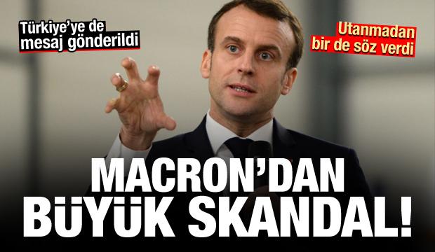 Macron'dan PKK skandalı! Utanmadan bir de söz verdi