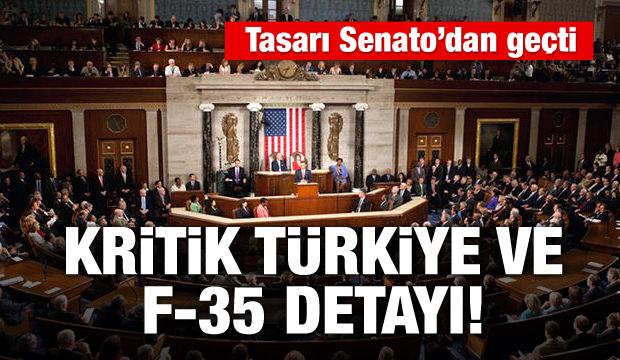 Tasarı Senato'dan geçti! Türkiye ve F-35 detayı