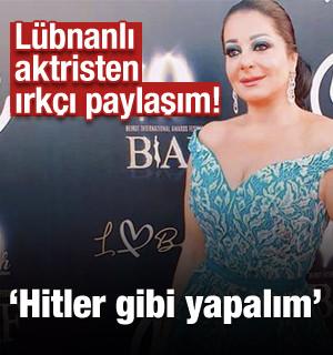Lübnanlı Aktristen Irkçı Paylaşım! Filistinli Müslümanlara Hitler Gibi Yapalım