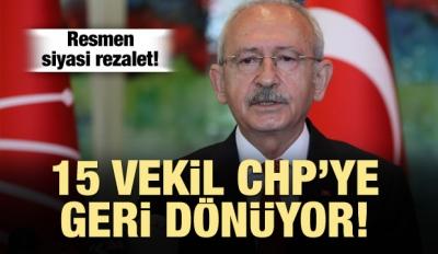 15 Vekil CHP'ye Dönüyor!