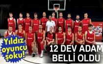 A Milli Erkek Basketbol Takımı'nın Avrupa Şampiyonası Kadrosu Belli Oldu