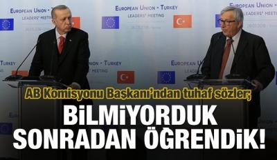 AB Komisyonu Başkanı Juncker'dan ilginç sözler