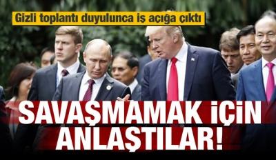 ABD ve Rusya savaşmamak için anlaştı