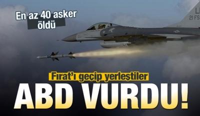 ABD vurdu! En az 40 Esed askeri öldü