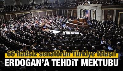 ABD'de 66 senatörden Erdoğan'a tehdit dolu mektup!