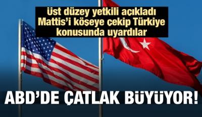 ABD'de çatlak büyüyor! Mattis'e Türkiye uyarısı
