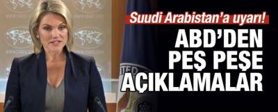 ABD'den Suudi Arabistan'a Uyarı!