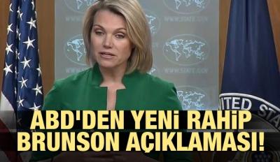 ABD'den yeni Rahip Brunson açıklaması