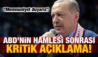 ABD'nin hamlesi sonrası Erdoğan'dan kritik mesaj