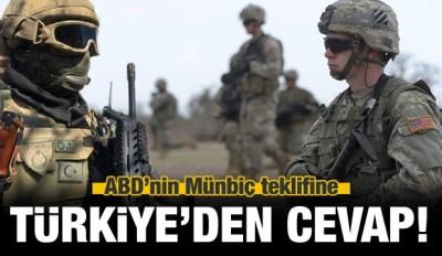 ABD'nin Münbiç teklifine Erdoğan'dan cevap!