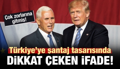 ABD'nin Türkiye tasarısında dikkat çeken ifade!