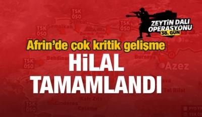 Afrin'de flaş gelişme! 'Hilal' tamamlandı