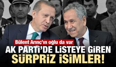 AK Parti listesinde sürpriz isimler!
