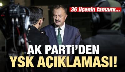 AK Parti'den İstanbul açıklaması: YSK kararını...