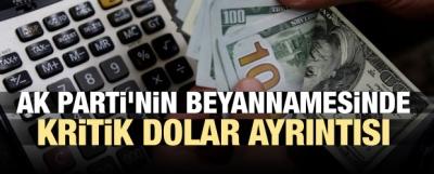 AK Parti'nin beyannamesinde kritik dolar ayrıntısı