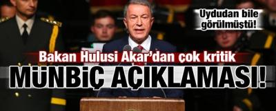 Akar'dan çok kritik 'Münbiç' açıklaması