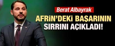 Albayrak, Afrin'deki Başarının Sırrını Açıkladı