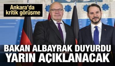 Albayrak'tan Alman mevkidaşıyla kritik görüşme