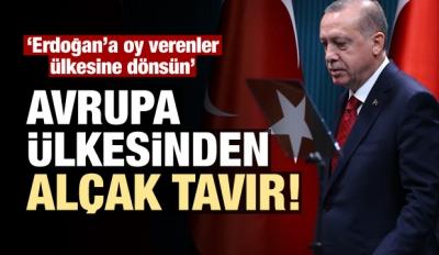 Alçak tavır! Erdoğan'a oy verenler ülkesine dönsün