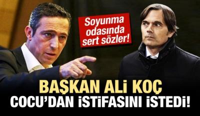 Ali Koç istifa istedi! Çok sert sözler...