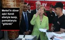 Almanya Başbakanı Merkel Döner Kesip Kebap Yedi