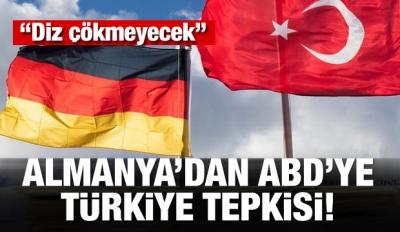 Almanya'dan ABD'ye Türkiye tepkisi