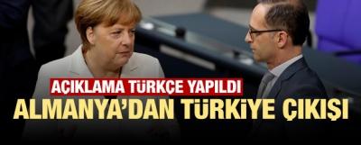 Almanya'dan Türkiye çıkışı! Açıklama Türkçe yapıldı