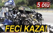 Ankara - İstanbul Karayolunda Otomobil Tıra Çarptı: 5 Ölü