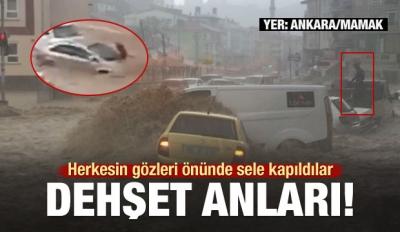 Ankara'da Sel! Bir Kişi Suya Kapılarak Yaralandı...