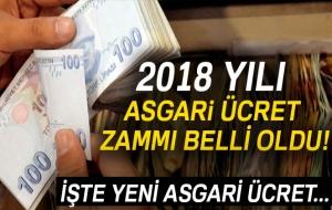 Asgari Ücret 2018 Belli Oldu!