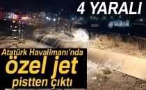 Atatürk Havalimanı'nda Jet Pistten Çıktı |Olay Yerinden İlk Görüntüler