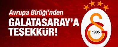 Avrupa Birliği'nden Galatasaray'a teşekkür