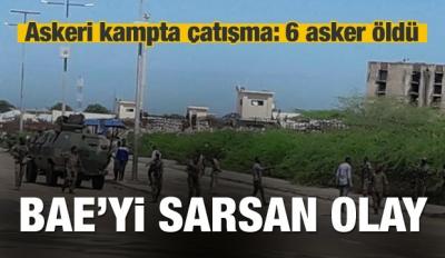 BAE askeri kampında çatışma: 6 asker öldü