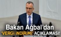 Bakan Ağbal'dan Vergi İndirimi Açıklaması