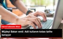 Bakan Arslan'dan İnternet Müjdesi: Adil Kullanım Kotası Kalkıyor!