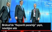 Başbakan Davutoğlu: AB ile Kayserili Pazarlığı Yaptık