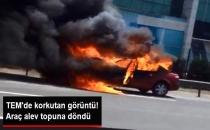 Basın Ekspres Güneşli Mevkisi TEM Otoyolunda Araç Yangını